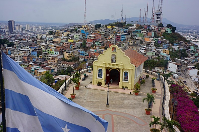 View from the lighthouse in the Las Penas Neighborhood Guayaquil Ecuador