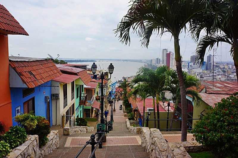 View from top of Las Penas neighorhood - Guayaquil Ecuador