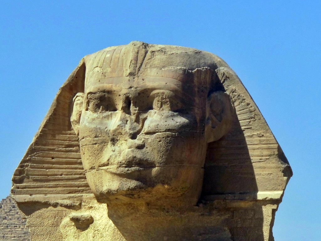 blowup of the Sphinx in Giza Egypt