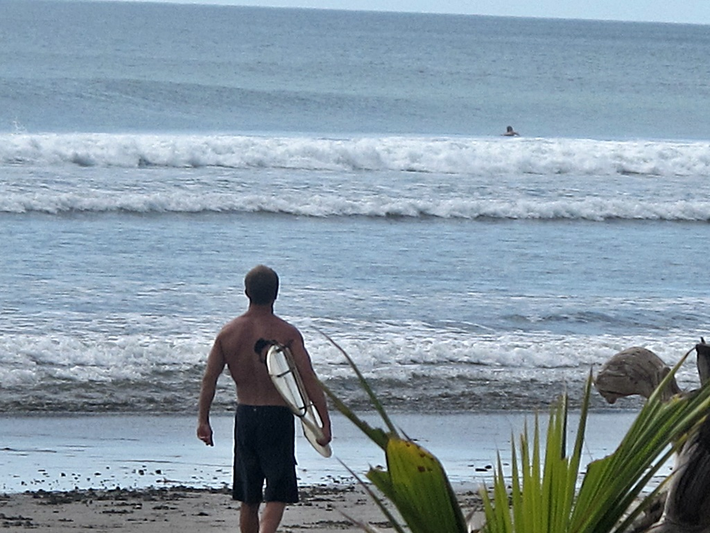 great surfing at the beach near San Juan del Sur Nicaragua