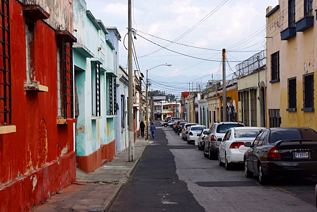 typical street in Guatemala City