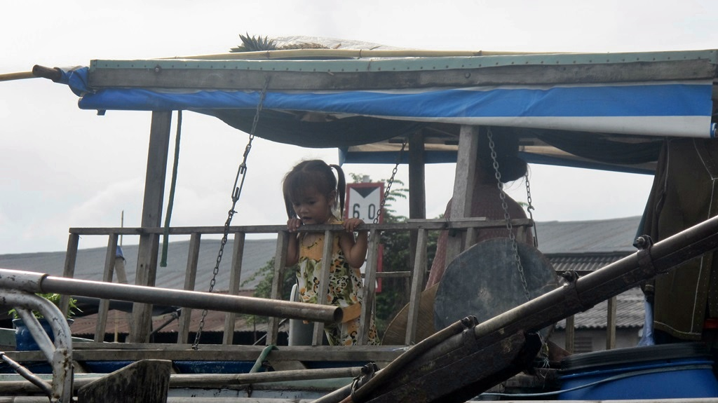 Little Vietnamese Girl on boat, Mekong River