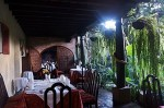 Dining Area at the Meson Panza Verdez Hotel Antigua