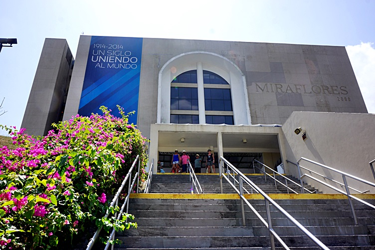 Entrance to the Miraflores Visitor Center