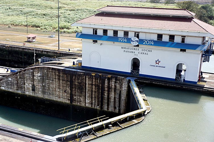 Miraflores Lock at Panama Canal