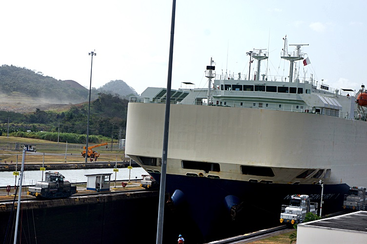 Ship Passing Through Panama Canal