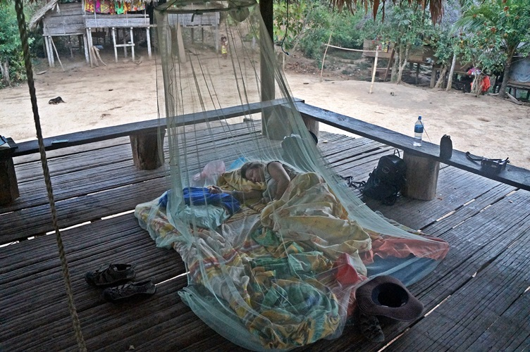 Sleeping at the Embera Village Panama