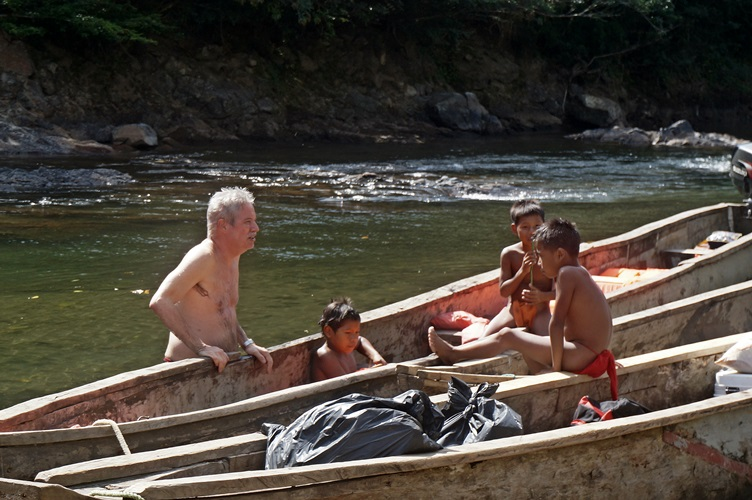 Swimming with the Kids Embera Village Panama