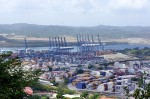 View of Panama Canal from Ancon Hill Panama City