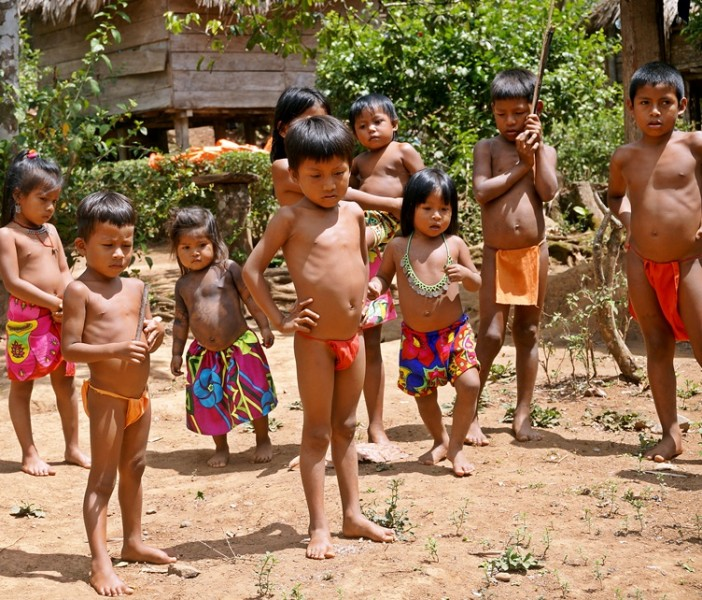 Children at the Embera Village Panama