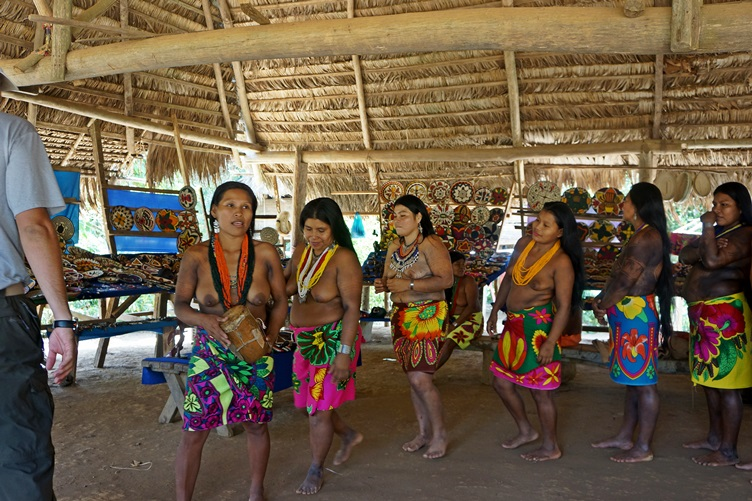 Dancing Girls Embera Village Panama