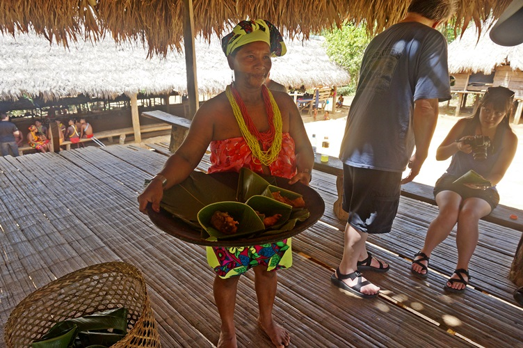 Dinner at the Embera Village Panama