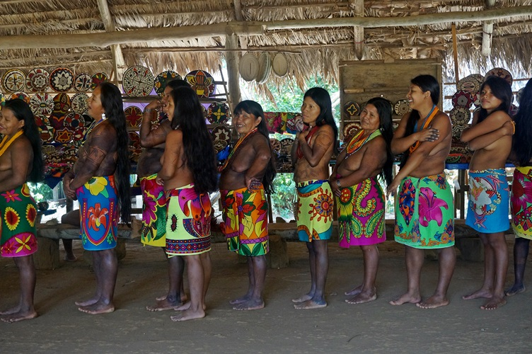 Girls Dancing at the Embera Village Panama