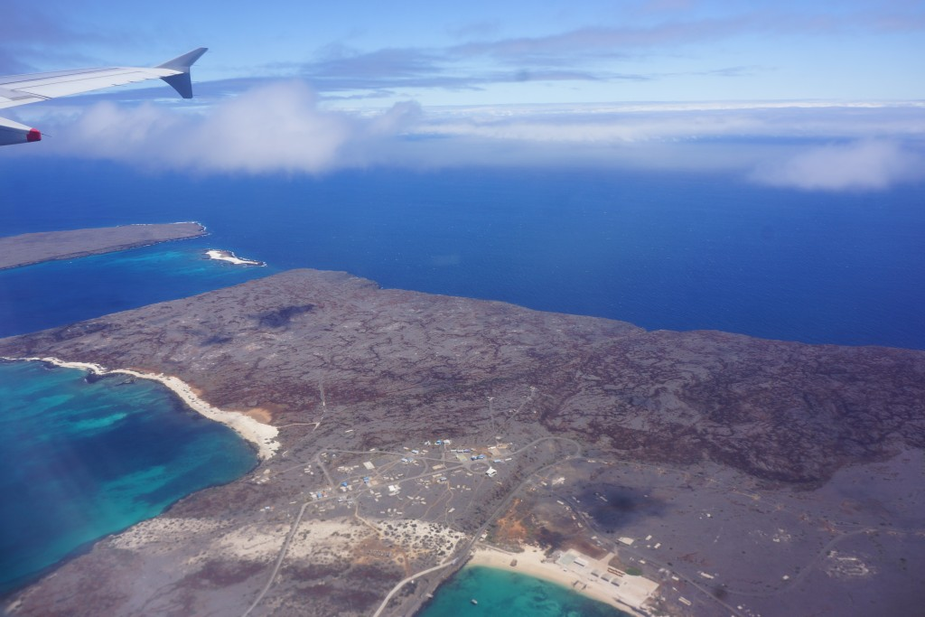 Aerial shot of Santa Cruz, Galapagos Islands
